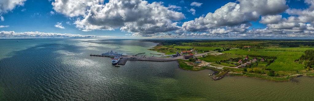 Kuivastu sadam, vaade põhjast