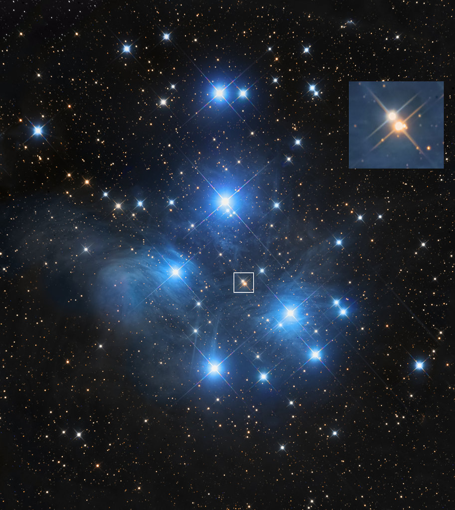 M45 and its nice quadruple star in the middle